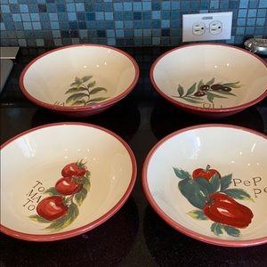 WILLIAMS SONOMA pasta bowls